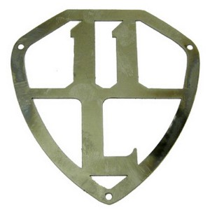 Insigne de porte de malle en inox 11BL