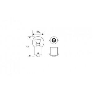 Ampoule ovale 6 V, 15 W