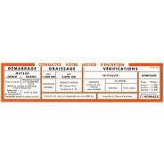 Notice orange de volet de boîte à gants  Traction 11CV BN