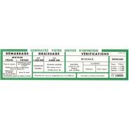 Notice de volet de boîte à gants Traction 11cv BL