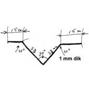 Profil en V sous caisse Traction 11 et 15cv longueur 1700 mm