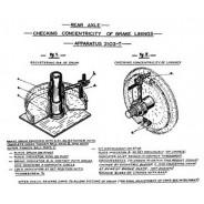 Clé pour régler les freins arrières Traction 11 et 15cv