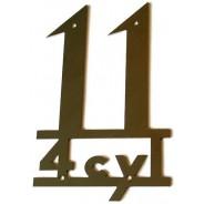 Emblème aile arrière 11 cv en inox