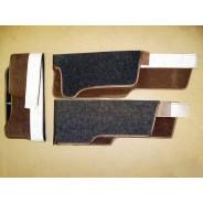 Tapis brun en bordure du levier de frein Traction 15