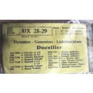 Paire de charbons de dynamo Ducellier UX 28-29 Traction 11 et 15CV