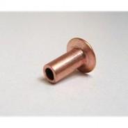 Rivet de fixation de mâchoires de freins Traction en acier cuivré