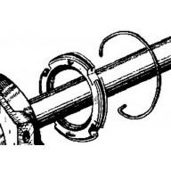 Goupille en C d'écrou de palier de suspension